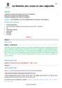 Séquence - Fiche de préparation Accord du nom / pluriels particuliers : CM1