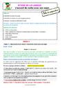 Séquence - Fiche de préparation Accord sujet verbe : CE1