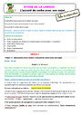 Séquence - Fiche de préparation Accord sujet verbe : CE2