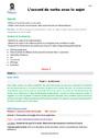 Séquence - Fiche de préparation Accord sujet verbe : CM2