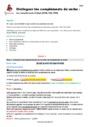 Séquence - Fiche de préparation Complément du verbe : CM2