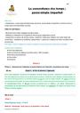 Séquence - Fiche de préparation Concordance des temps : CM2