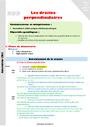 Séquence - Fiche de préparation Droites perpendiculaires : CM2