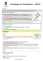 Séquence - Fiche de préparation Homonymes, homophones : CE2