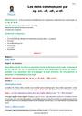 Séquence - Fiche de préparation Les mots commençant par ac, af, ap : CM2