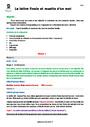 Séquence - Fiche de préparation Lettre finale muette : CM1