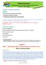 Séquence - Fiche de préparation Masse g, kg : CE2