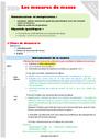 Séquence - Fiche de préparation Masse g, kg : CM2
