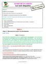 Séquence - Fiche de préparation Mots étiquettes / termes génériques et particuliers : CE1