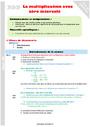 Séquence - Fiche de préparation Multiplication : CM2