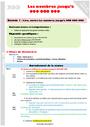 Séquence - Fiche de préparation Numération : CM1