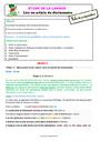 Séquence - Fiche de préparation Ordre alphabétique / Dictionnaire : CE1