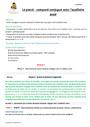 Séquence - Fiche de préparation Passé composé : CM2