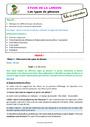 Séquence - Fiche de préparation Phrase / Types de phrase : CE1