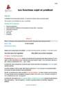 Séquence - Fiche de préparation Prédicat : CM1