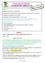 Séquence - Fiche de préparation Présent de l'indicatif : CE2
