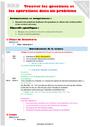 Séquence - Fiche de préparation Problème de recherche d'informations : CM1