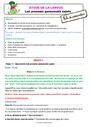 Séquence - Fiche de préparation Pronom : CE2