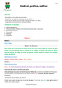 Séquence - Fiche de préparation Radical, préfixe, suffixe : CM1