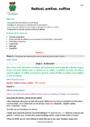 Séquence - Fiche de préparation Radical, préfixe, suffixe : CM2