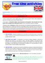 Séquence - Fiche de préparation Sport / Hobbies - Anglais : CE1