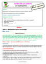 Séquence - Fiche de préparation Synonymes : CE2
