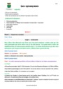 Séquence - Fiche de préparation Synonymes : CM2