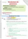 Séquence - Fiche de préparation Vocabulaire de géométrie : CM2