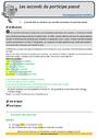 Révision, soutien scolaire - Accord du participe passé : CM2