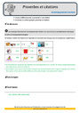 Révision, soutien scolaire - Autres fiches - Vocabulaire / Lexique : CM2