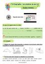 Révision, soutien scolaire - Ecrire les sons difficiles : CE2
