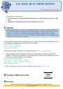 Révision, soutien scolaire - Familles de mots : CE2