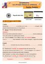 Révision, soutien scolaire - Phrase simple et complexe : CM2