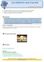 Révision, soutien scolaire - Polysémie : CE2