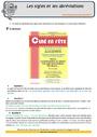 Révision, soutien scolaire - Sigles, abréviations : CM1