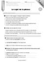 Leçon et exercice : Sujet, groupe sujet : CM1