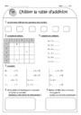 Leçon et exercice : Tables d'addition : CE1