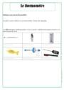 Leçon et exercice : Thermomètre : CE1
