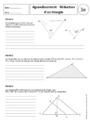 Cours et exercice : Triangles : 3ème