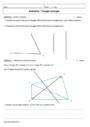 Cours et exercice : Triangles : 4ème
