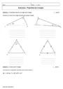 Cours et exercice : Triangles : 5ème