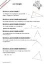 Leçon et exercice : Triangles : CE2