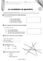 Leçon et exercice : Vocabulaire de géométrie : CM2
