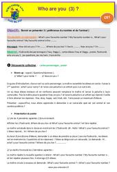Who are you (3) – Anglais : 2eme Primaire