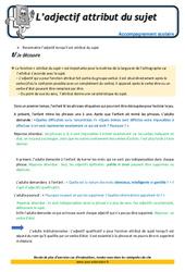 L'adjectif attribut du sujet – Soutien scolaire – Aide aux devoirs : 4eme Primaire