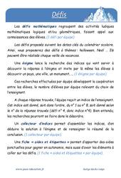 Neige – Défi maths – Enigmes mathématiques : 1ere Primaire