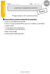 Je sais tracer un programme de construction – Exercices avec correction