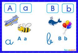 Abécédaire illustré en couleur – Affichages pour la classe : 1ere, 2eme, 3eme Maternelle, 1ere Primaire