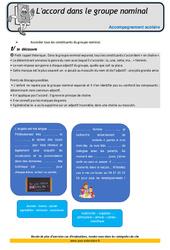 L 'accord dans le groupe nominal – Soutien scolaire – Aide aux devoirs : 4eme Primaire