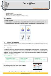Les suffixes – Soutien scolaire – Aide aux devoirs : 4eme Primaire